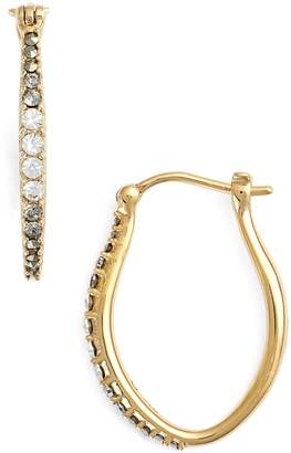 Judith Jack Marcasite & Swarovski Crystal Hoop Earrings