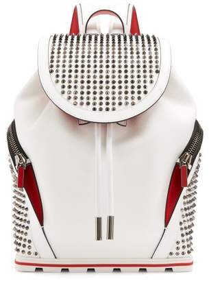 Christian Louboutin Explorafunk Spike Embellished Backpack - Mens - White