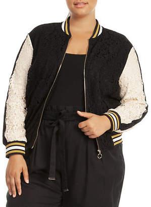 Dex Plus Lace Bomber Jacket