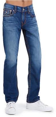 True Religion Slim Fit Orange Big T Jean