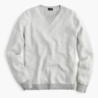 J.Crew Cotton-cashmere crew neck sweater in windowpane jacquard