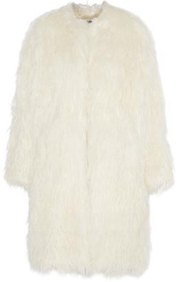 DKNY Oversized faux fur coat $695 thestylecure.com