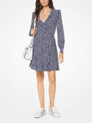 MICHAEL Michael Kors Paisley Washed Silk Wrap Dress
