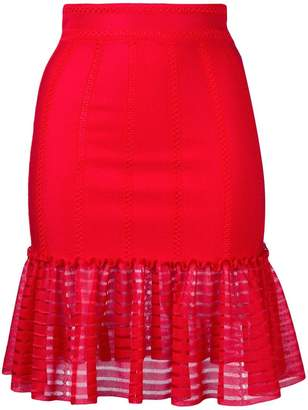 Alexander McQueen sheer panel skirt