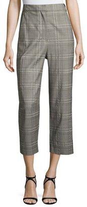 Tibi Jasper Suiting Tailored Pants, Gray Multi $395 thestylecure.com