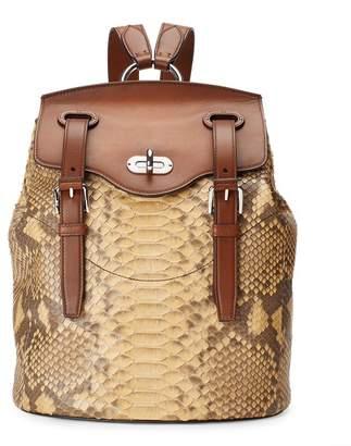 Ralph Lauren Python Turn-Lock Backpack