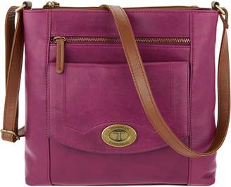 At Qvc Tignanello Function Forever Vintage Leather Crossbody