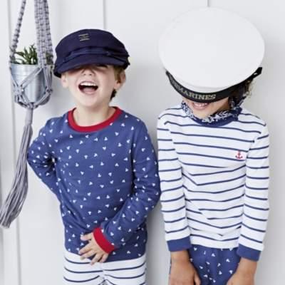 All Over Anchor Print & Stripe Pyjamas - Set of 2