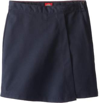 Dickies Big Girls Faux Wrap Skort - School Uniform