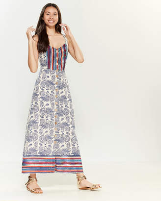 Angie Button Down Printed Maxi Dress