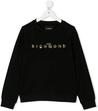 John Richmond Kids TEEN embellished logo sweatshirt