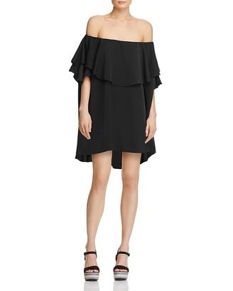 MLM Label Maison Off-The-Shoulder Mini Dress $165 thestylecure.com