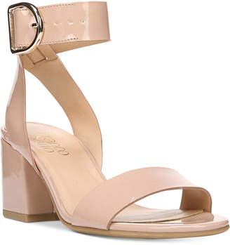 Franco Sarto Marcy Block-Heel Sandals $89 thestylecure.com