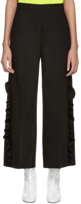 MSGM Black Ruffles Trousers
