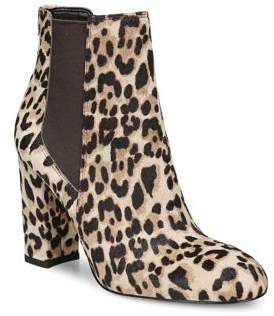 Sam Edelman Leopard Print Calf Hair Booties