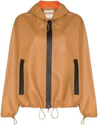 Bottega Veneta hooded leather jacket