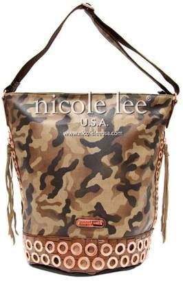Nicole Lee Teagan Camouflage Print Hobo Bag