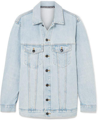 Alexander Wang Daze Oversized Denim Jacket - Light denim