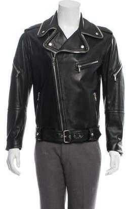 MCM Leather Moto Jacket black Leather Moto Jacket