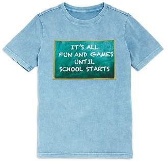 Butter Shoes Boys' It's All Fun and Games Until School Starts Tee - Big Kid