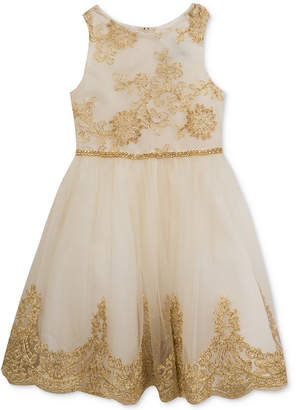 Rare Editions Embroidered Bodice Party Dress, Toddler Girls