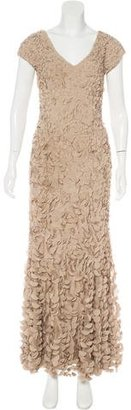 Theia Embellished Mesh Gown $295 thestylecure.com
