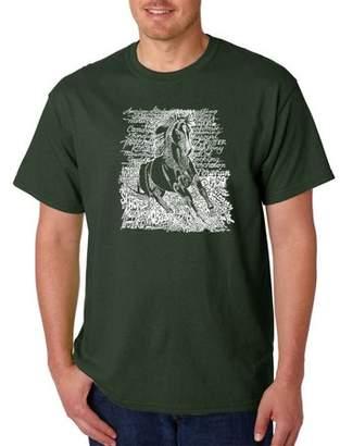 Pop Culture Men's T-Shirt - Popular Horse Breeds