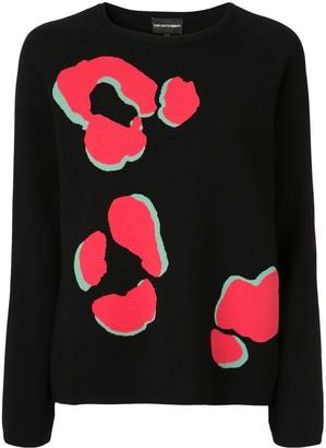 Emporio Armani Paw print jumper