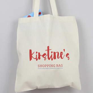 XOXO Personalised Shopping Tote Bag
