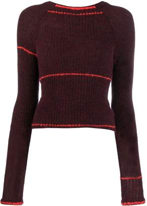 Eckhaus Latta ribbed knit jumper