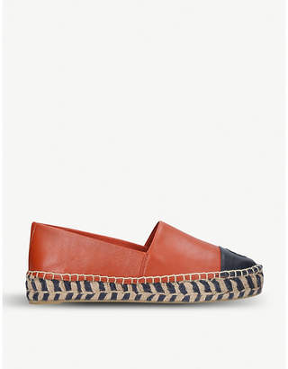 Tory Burch Colorblock leather espadrilles