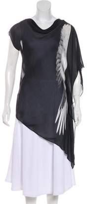 Helmut Lang Asymmetrical Silk Tunic