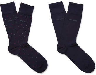 HUGO BOSS Two-Pack Stretch Cotton-Blend Socks