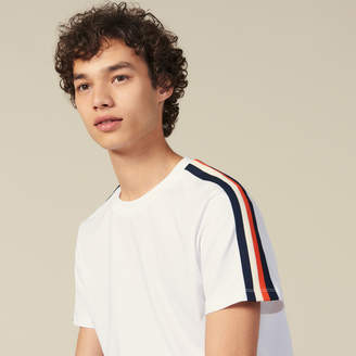 Sandro T-Shirt With Stripes On The Sleeves