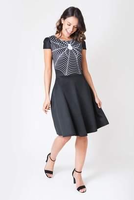 Next Womens Want That Trend Spider Web Halloween Skater Dress