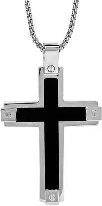 Lynx Stainless Steel Cross Pendant - Men