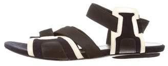 Balenciaga Suede Crossover Sandals