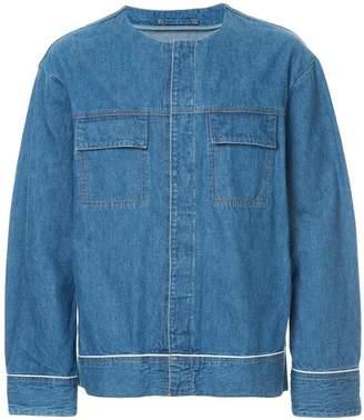 GUILD PRIME round neck denim jacket