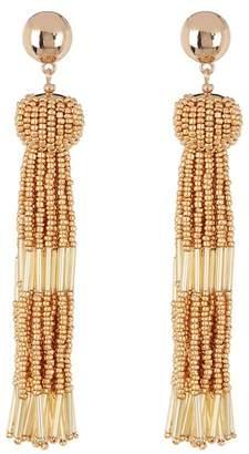 Vince Camuto Beaded Tassel Dangle Earrings