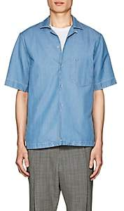 Acne Studios Men's Elms Denim Camp Shirt-Blue