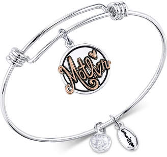 """Unwritten Two-Tone """"Mother, Thank you for all you do"""" Adjustable Bangle Bracelet in Stainless Steel & Gold-Tone Stainless Steel"""