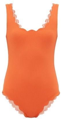 Marysia Swim Palm Spring Reversible Scallop Edged Swimsuit - Womens - Orange
