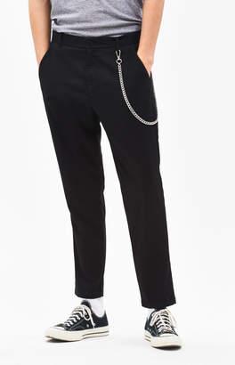 PacSun Slim Taper Black Trouser Pants