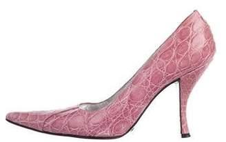 Dolce & Gabbana Crocodile Pointed-Toe Pumps