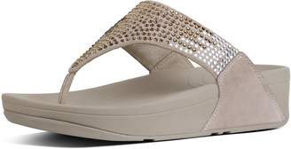FitFlop Flare Suede Toe-Post Sandals