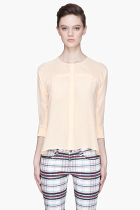 See by Chloe Peach sheer silk blouse
