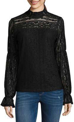 Libby Edelman Long Sleeve Lace Top