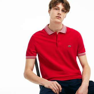 Lacoste Men's Regular Fit Piped Pique Polo