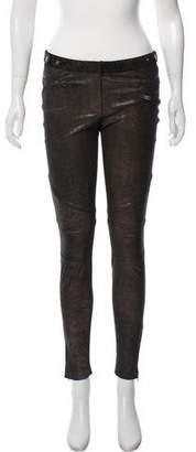 Monika Chiang Leather Skinny Pants