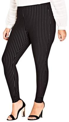 City Chic Chic City Simply Striped Skinny Pants